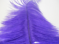 Ostrich feathers 30cm  2pcs #5 Dk purple