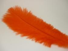 Ostrich feathers 20cm 5pcs #23 orange