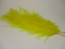 Ostrich feathers 20cm 5pcs #23 yellow