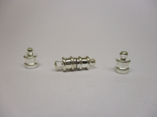 Magnetic Clasp Barrel (Silver) 17x6mm 2pc