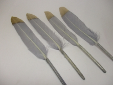 Feathers 15cm #14 10pcs Grey gold
