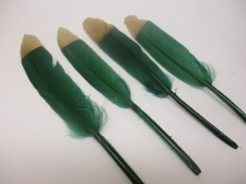 Feathers 15cm #14 10pcs Green gold