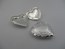 Pendant Locket 1pcs (S) 25x25mm Heart