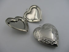 Pendant Locket 1pcs (N) 25x25mm Heart