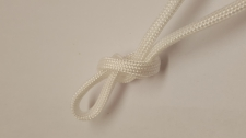 Paracord 5x3mm White 10m