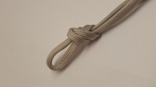 Paracord 5x3mm lt Grey 10m