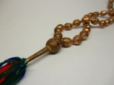 Ethiopia Prayer Beads Copper 12x8mm Oval 70cm