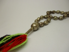 Ethiopia Prayer Beads silver 12x8mm Oval 70cm