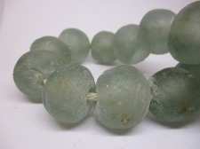 Ghana Bottle powder Trade African Beads +/-59cm 23mm