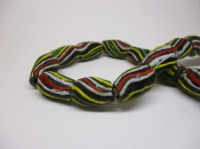 Ghana Trade African Beads +/-59cm 16x11mm Bead