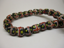 Ghana Trade African Beads +/-60cm 12x12mm