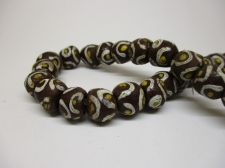 Ghana Trade African Beads +/-54cm 10x10mm