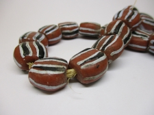 Ghana Trade African Beads +/-60cm 16x16x10mm