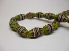 Ghana Trade African Beads +/-60cm 13x9mm