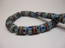 Ghana Trade African Beads +/-60cm 12x9mm