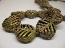 AFRICAN BRASS BEADS 23X9MM +/-53CM