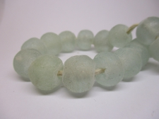 Ghana Bottle powder Trade African Beads +/-52cm 15mm