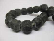 Ghana Bottle powder Trade African Beads +/-52cm 14mm