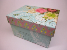 Gift Boxes roses and butterfly (s) 10x7.5x6.3cm