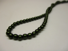 Czech Glass Pearls 3mm Green +/--150pcs