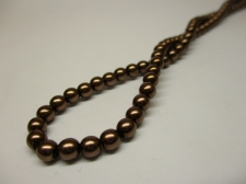 Czech Glass Pearls 4mm Brown +/--120pcs