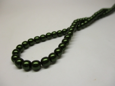 Czech Glass Pearls 4mm Green +/--120pcs