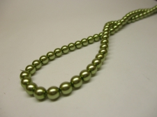 Czech Glass Pearls 4mm Olive Green +/--120pcs