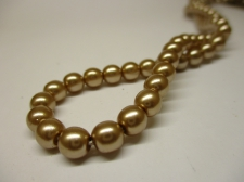 Czech Glass Pearls 6mm Copper +/-100pcs