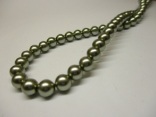 Czech Glass Pearls 6mm Lt Green +/-100pcs