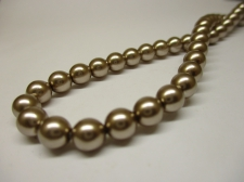 Czech Glass Pearls 6mm Lt Brown +/-100pcs