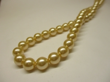Czech Glass Pearls 6mm Cream +/-100pcs