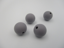 Silicone Beads 12mm 4pcs Grey