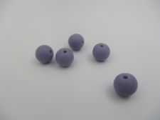 Silicone Beads 9mm 5pcs Dk purple
