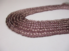 Czech Seed Beads 8/0 Foil Lt Purple 3str x +/-20cm