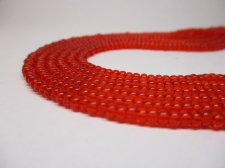 Czech Seed Beads 8/0 Crystal lt Red 3str x +/-20cm