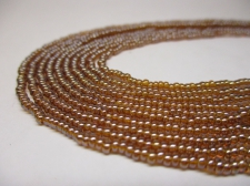 Czech Seed Beads 11/0 Luster Brown 5str x +/-20cm