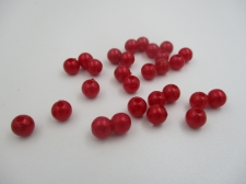 Plastic Pearls 6mm Dk Red  100g