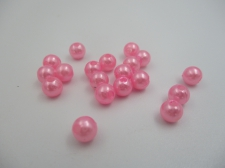 Plastic Pearls 6mm Pink 100g