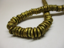 AFRICAN BRASS BEADS 10X2MM +/-53CM
