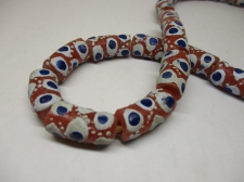 Ghana Trade African Beads +/-62cm 24x11mm