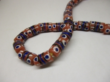 Ghana Trade African Beads +/-56cm 15x9mm