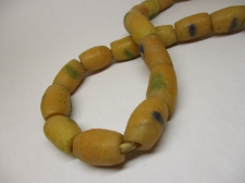 Ghana Trade African Beads +/-62cm 23x14mm