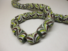 Ghana Trade African Beads +/-66cm 16x14mm