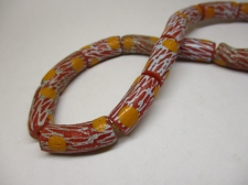 Ghana Trade African Beads +/-66cm 23x10mm