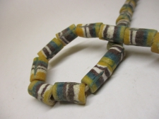 Ghana Trade African Beads +/-64cm 14x9mm