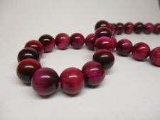 Tiger Eye 10mm +/-38pcs Pink
