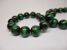 Tiger Eye 8mm +/-48pcs Green