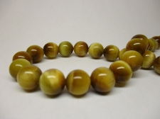 Tiger Eye 8mm +/-48pcs Yellow