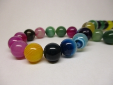 Mix Agate 8mm +/-46pcs
