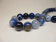 Blue Veins Agate 10mm +/-37pcs